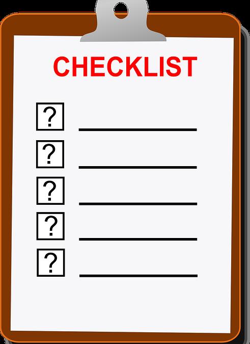 Preparación y control sistemático de las visitas: lista de comprobación
