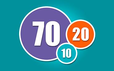 70:20:10 Números del aprendizaje
